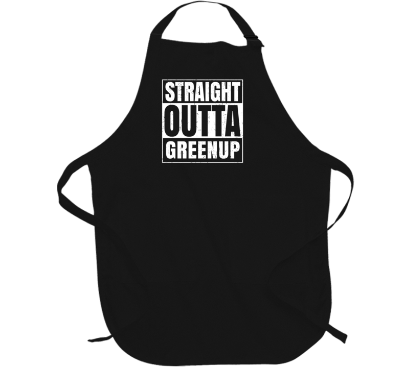 Straight Outta Greenup Illinois Parody Grunge City Father's Day Apron