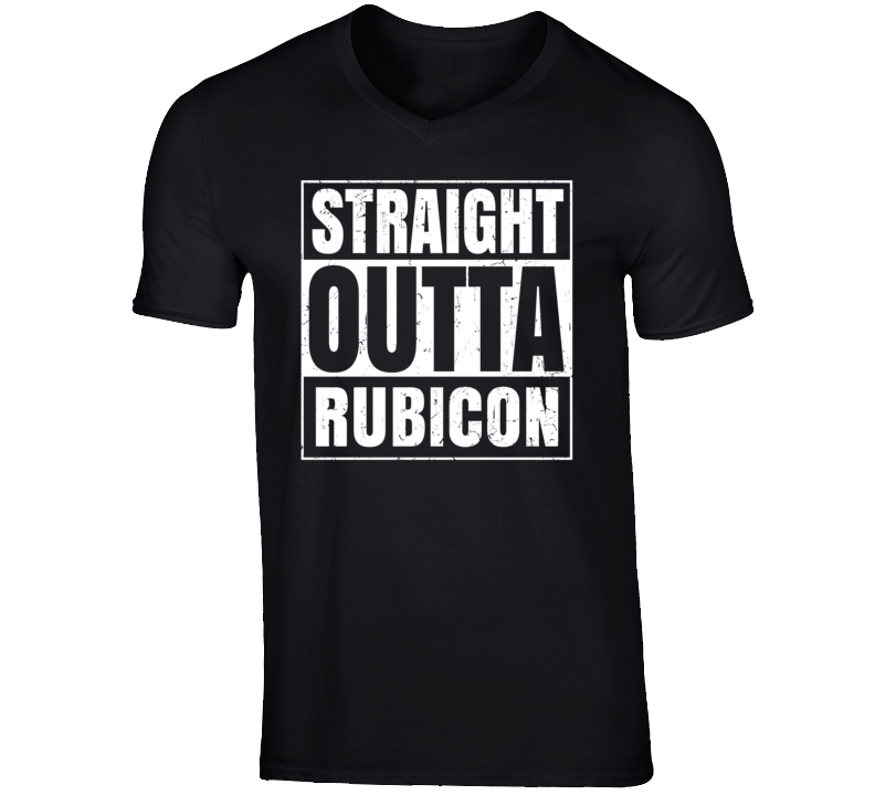 Straight Outta Rubicon Wisconsin Parody Grunge City Father's Day Vneck T Shirt