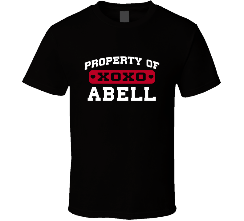Property Of Abell XOXO USA T Shirt