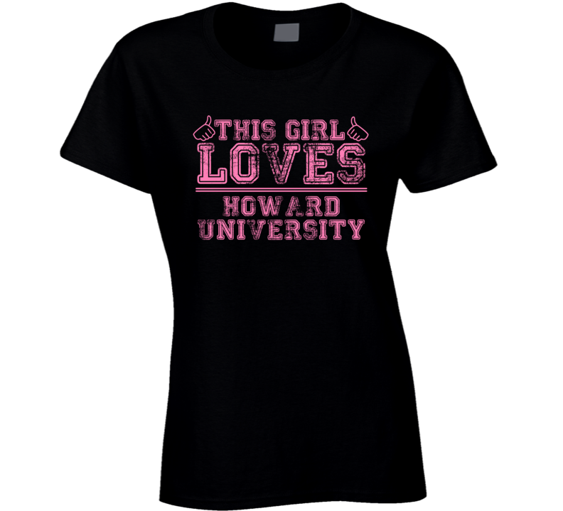 This Girl Loves Howard University USA Neighborhood T Shirt