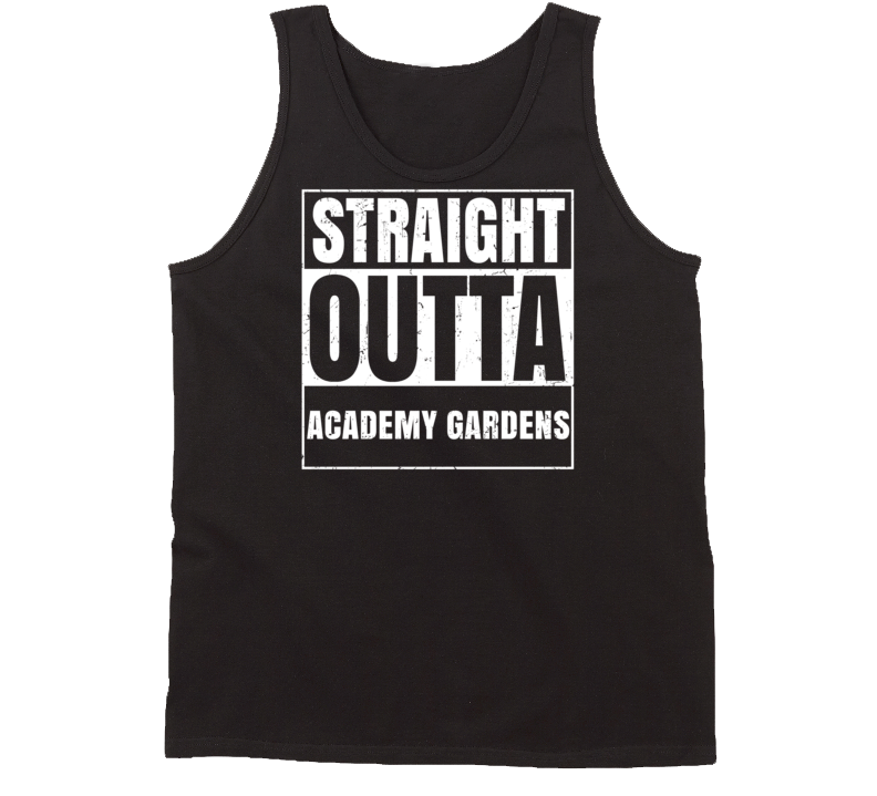 Straight Outta Academy Gardens USA Distressed Tanktop