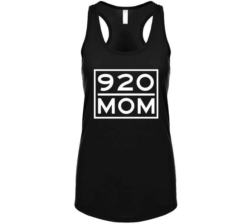 920 Mom Green Bay Wi Area Code Represent Hometown Ladies Racerback Tanktop