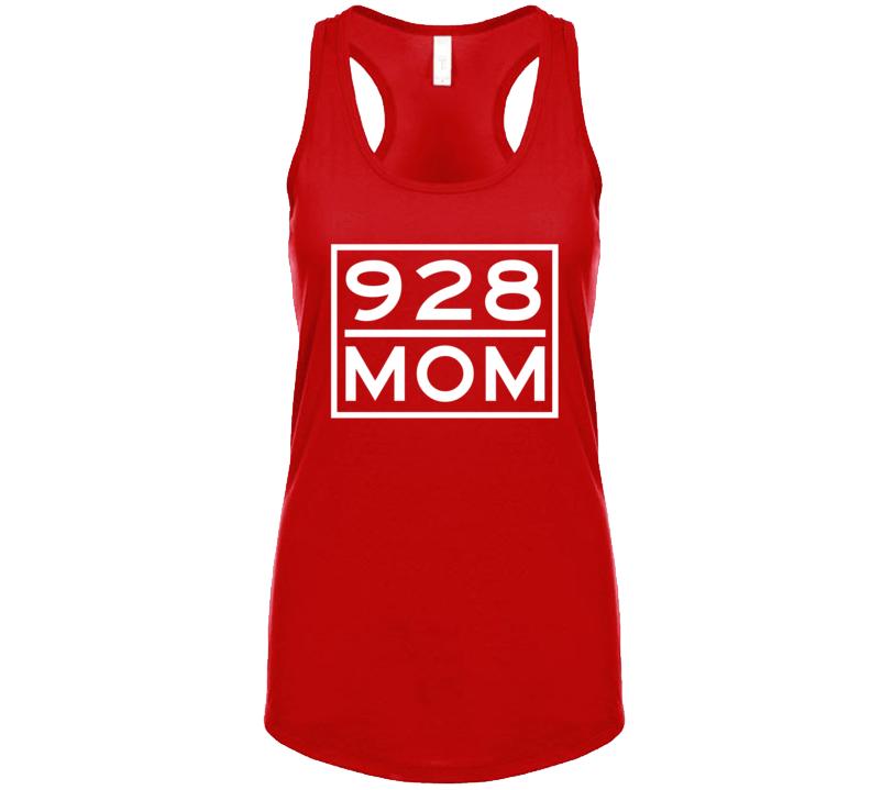 928 Mom Yuma Az Area Code Represent Hometown Ladies Racerback Tanktop