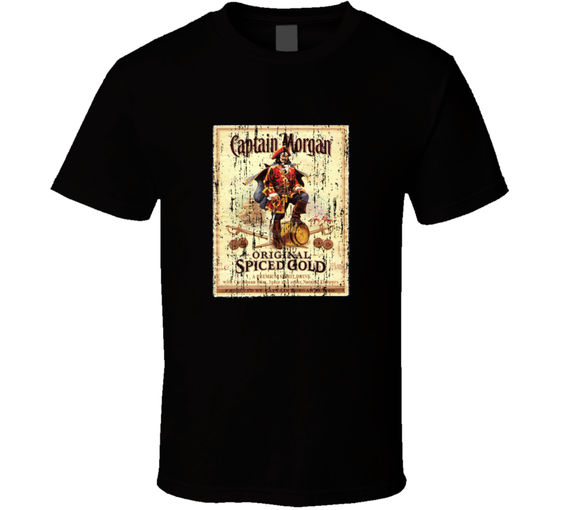 Captain Morgan Old Spice Rum Distressed T Shirt