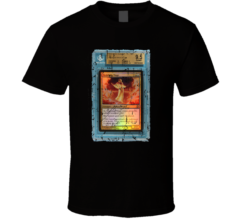 Medding Mage Magic Gathering Grunge T-shirt