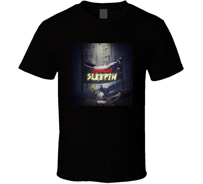 Leeky Bandz Sleepin Mixtape Poster Cover Hip Hop Grunge T-shirt