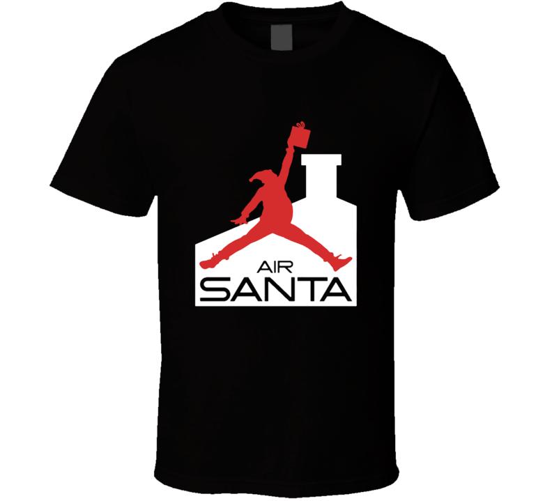 Funny Christmas Air Santa Basketball Santa Holidays T-shirt