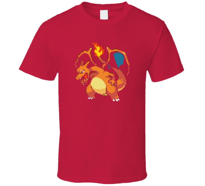 Charizard 8 bit Pokemon T Shirt