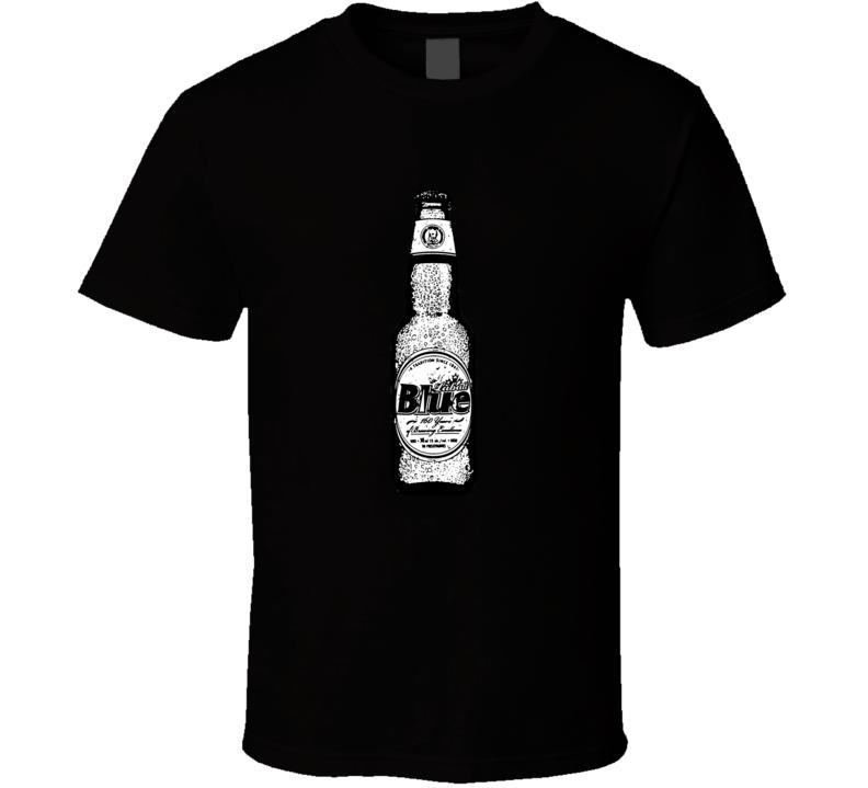 Labatt Blue Beer Bottle Brands Cartoon Look T Shirt