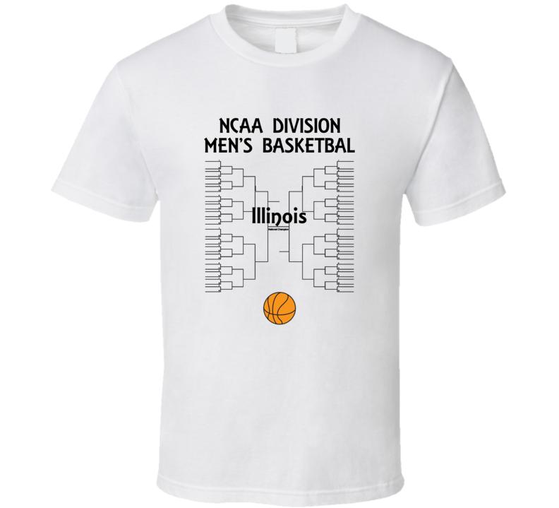 Illinois NCAA March Madness Basketball T Shirt