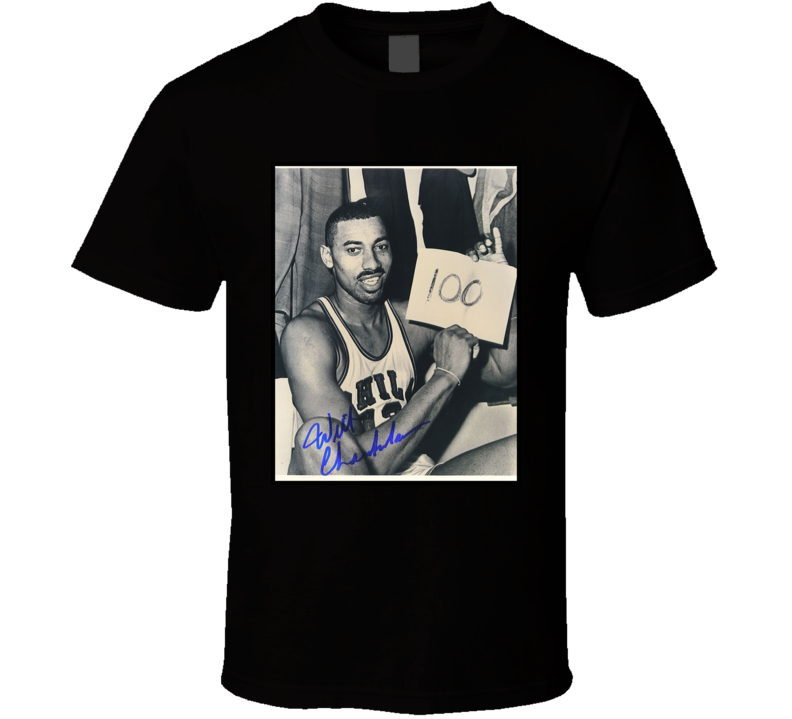 Wilt Chamberlain 100 Points Game Sign T Shirt