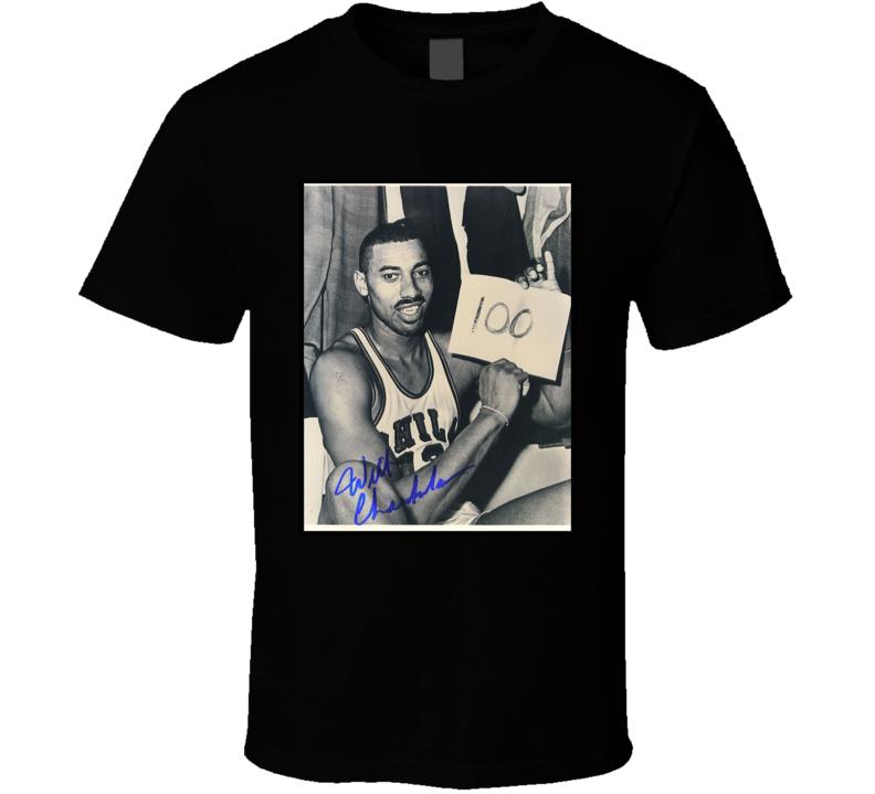 Wilt Chamberlain 100 Points Game Sign T Shirt