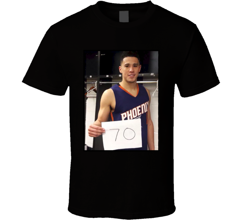 Devin Booker 70 Points Game Sign T Shirt