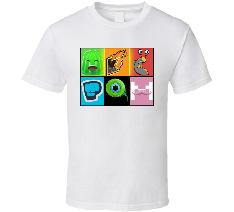 Slogoman, Jelly, Kwebbelkop, Pewdie Pie, Jack Septic Eye, Markiplier Youtubers T Shirt
