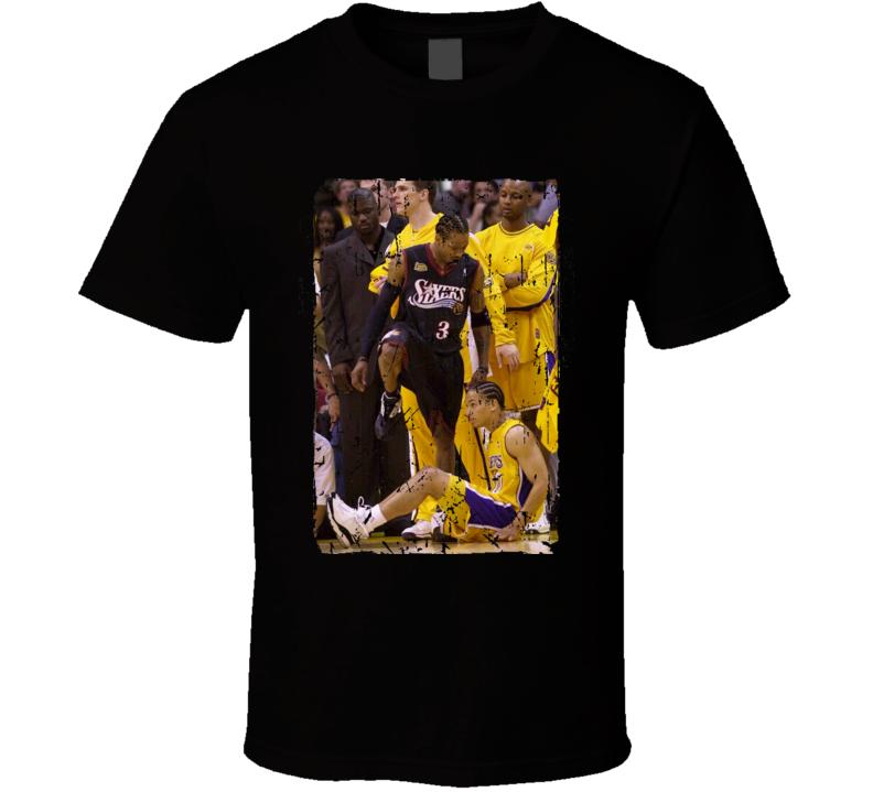Allen Iverson Steps Over Tyronn Lue Basketball Poster T Shirt