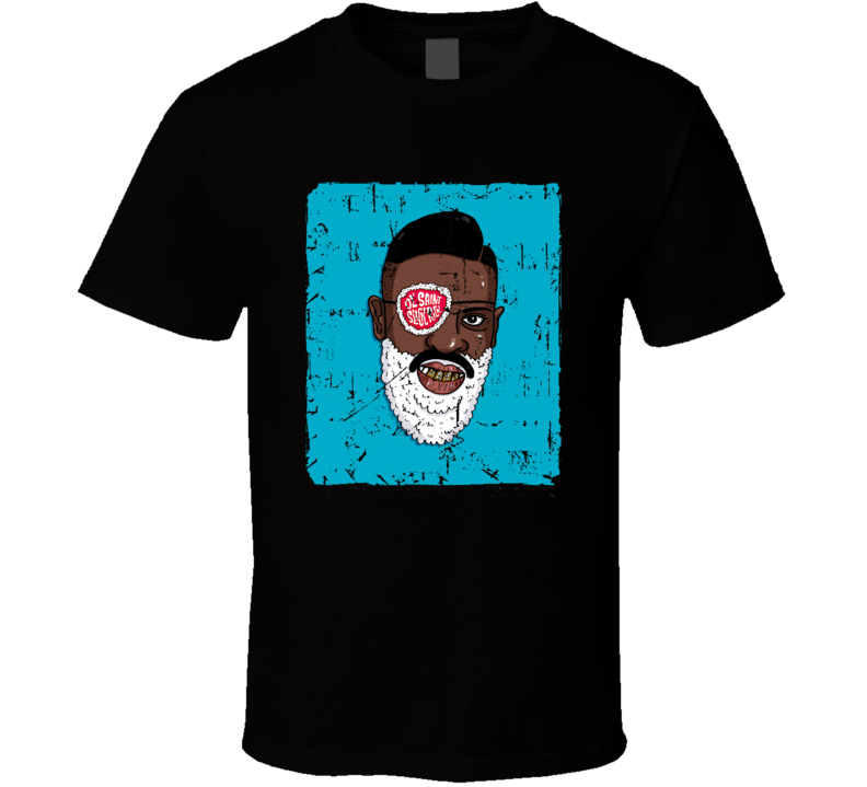 Slick Rick Rapper Cartoon Distressed T Shirt