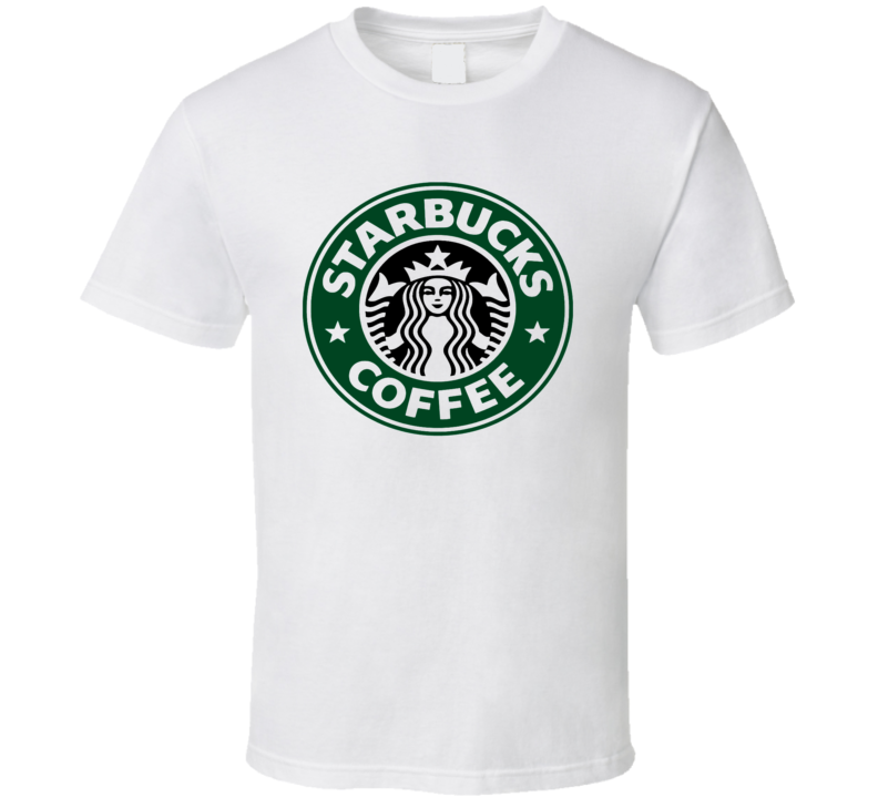 Men T Shirt Starbucks coffee America Vintage short sleeve soft cotton