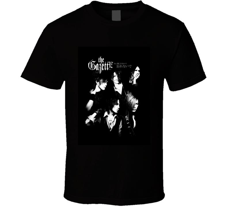 The Gazette T-Shirt Japanese visual kei rock band Tee Shirts