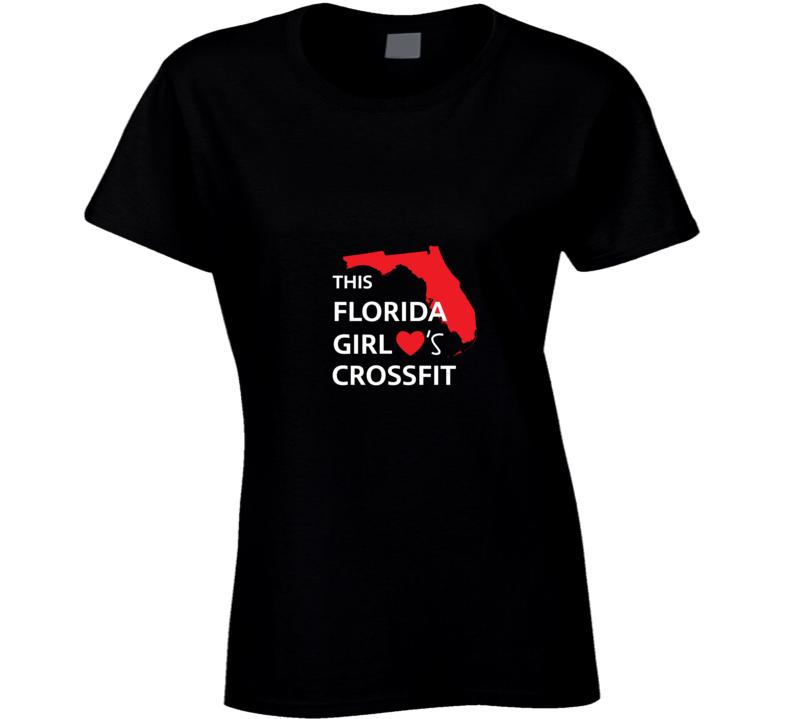 California Girl love crossfit t-shirt