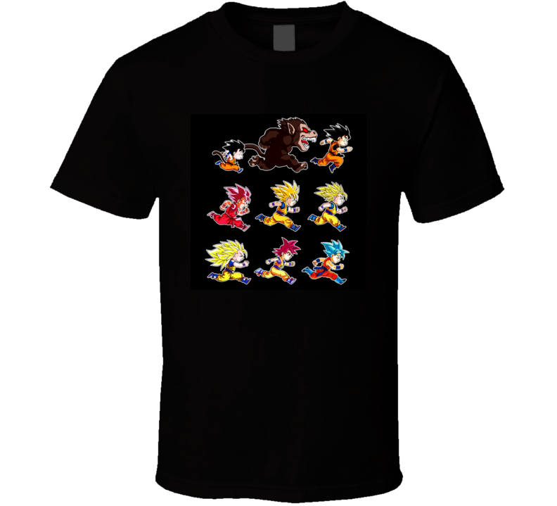 dragon ball goku evolution shirt tee t-shirt