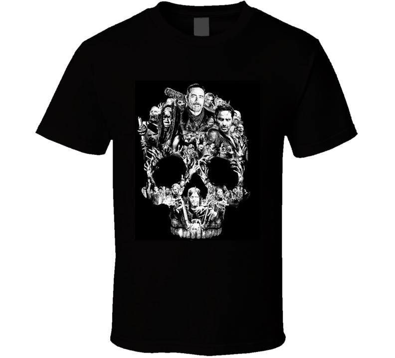 Skull Walking Dead Shirt Season 7 t-shirt
