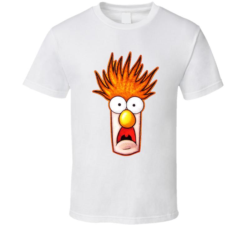 Beaker Muppets Meep White T Shirt
