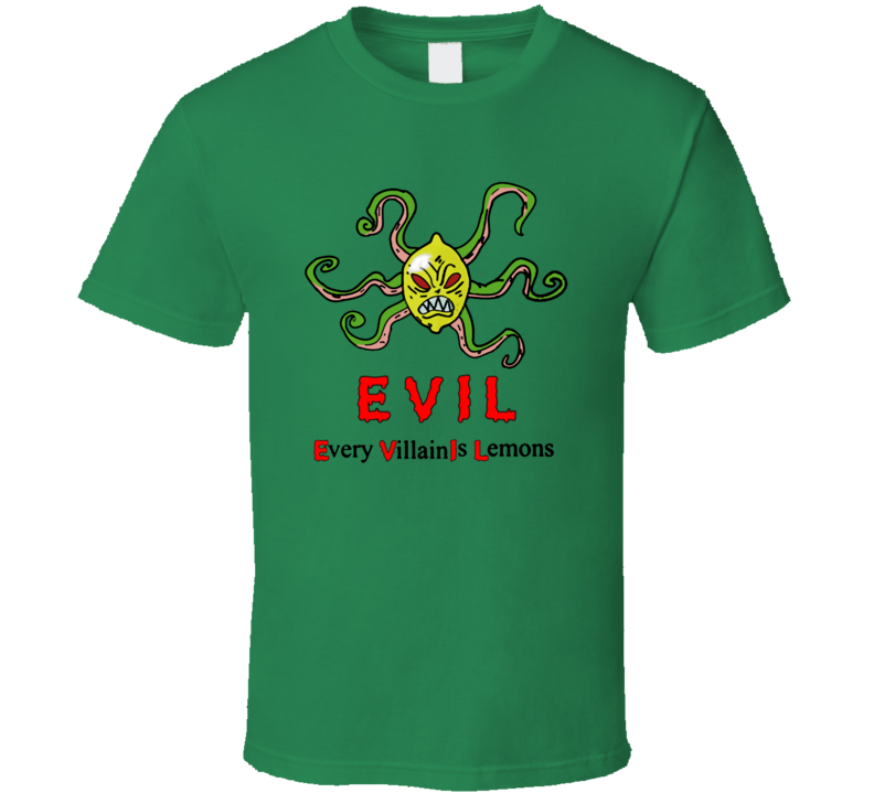 Every Villain Is Lemons Evil Sponge Bob Funny Cartoon T Shirt