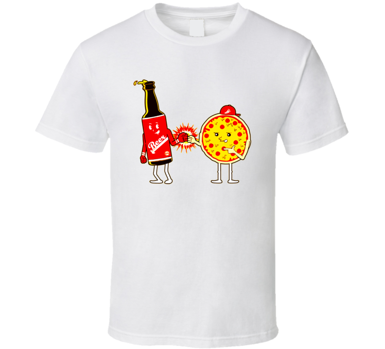 Beer and Pizza BFF Friends Joke T Shirt