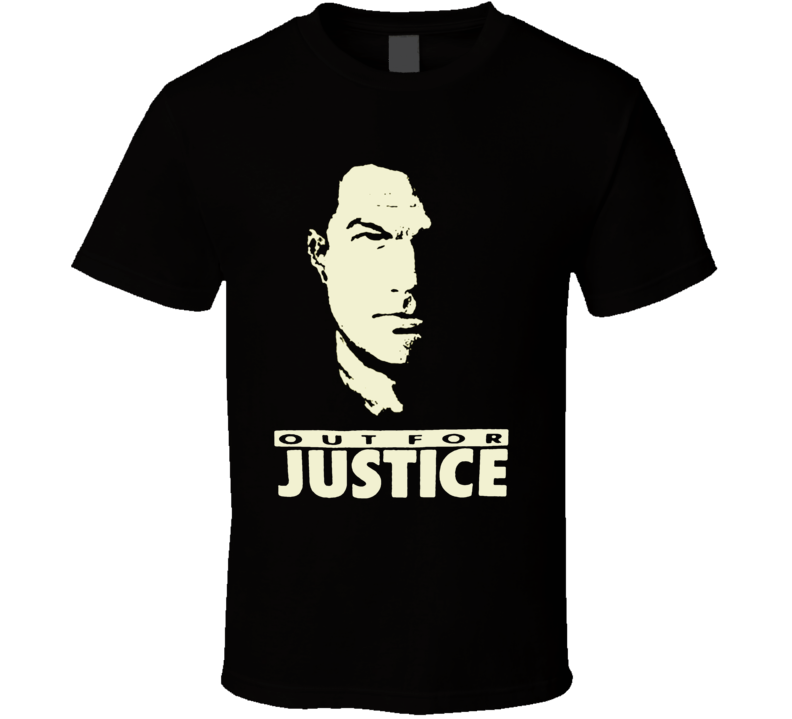 Steven Seagal Out For Justice Movie Fighting Martial Arts Movie T Shirt
