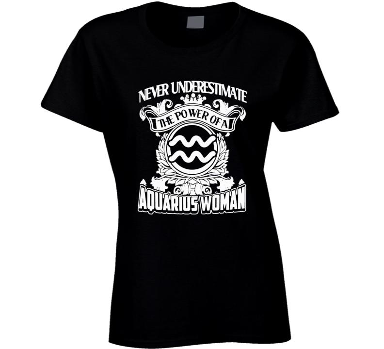 Aquarius Zodiac t shirt January February born t-shirt men ladies d