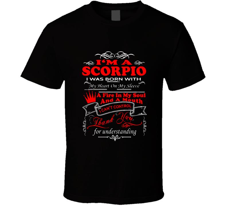 Scorpio Zodiac october November t shirt born t-shirt women men a5
