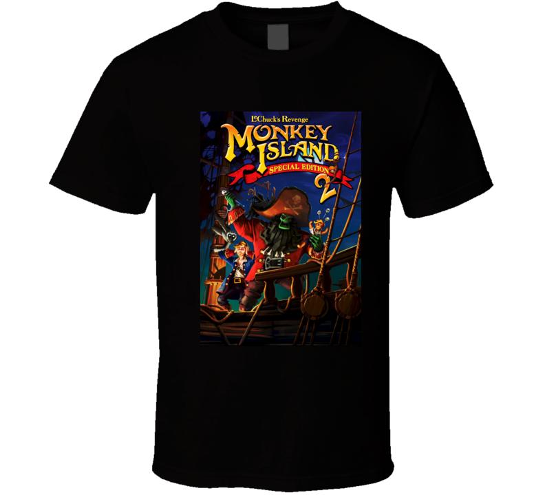 Monkey Island 2 games t shirt