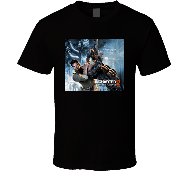 unchartered 2 among thieves games t shirt