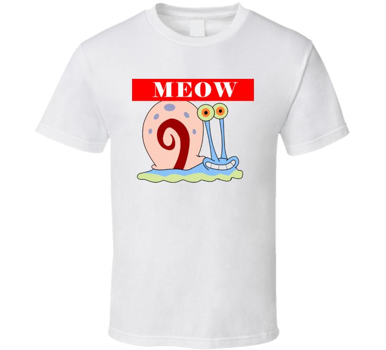Sponge Bob T-Shirt gary meow T Shirt