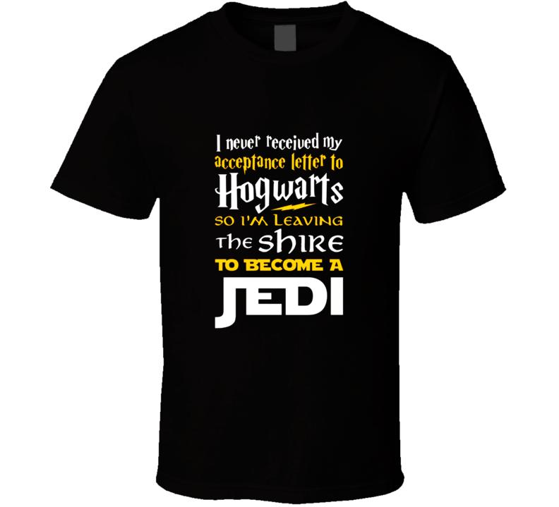hogwarts jedi harry potter parody funny T Shirt