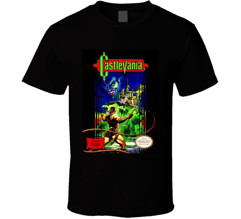castlevania nintendo nes box T Shirt