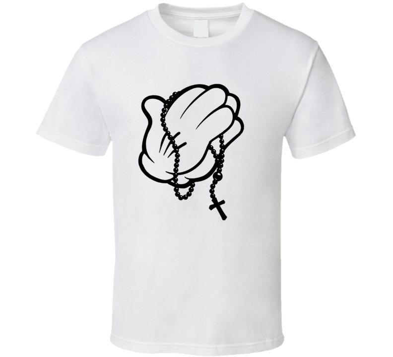 Cartoon Hands Praying mickey mouse T Shirt
