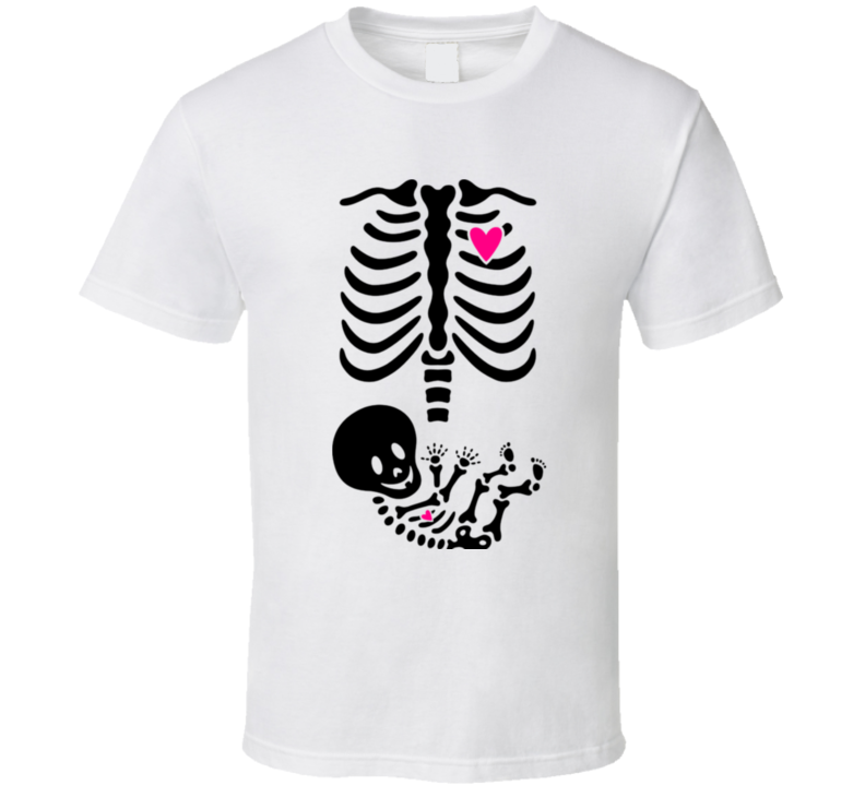 dcbc6449a7890 Maternity Skeleton Skeleton With Heart Pregnant Pregnancy Halloween  Maternity Costume Baby Classic T Shirt Sc 1 St Off-black Tees