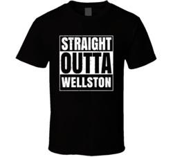 Straight Outta Wellston Ohio City Compton Parody T Shirt