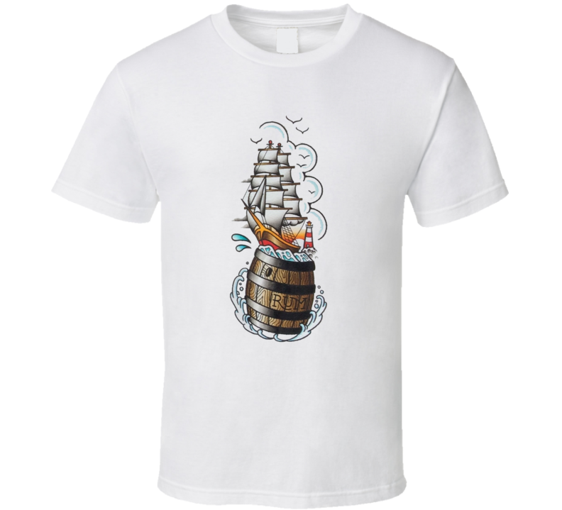rum sailor tattoo pirate T Shirt