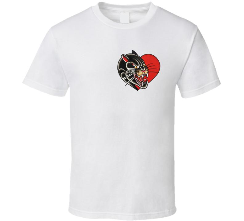 Sailor Tattoo panther heart T Shirt