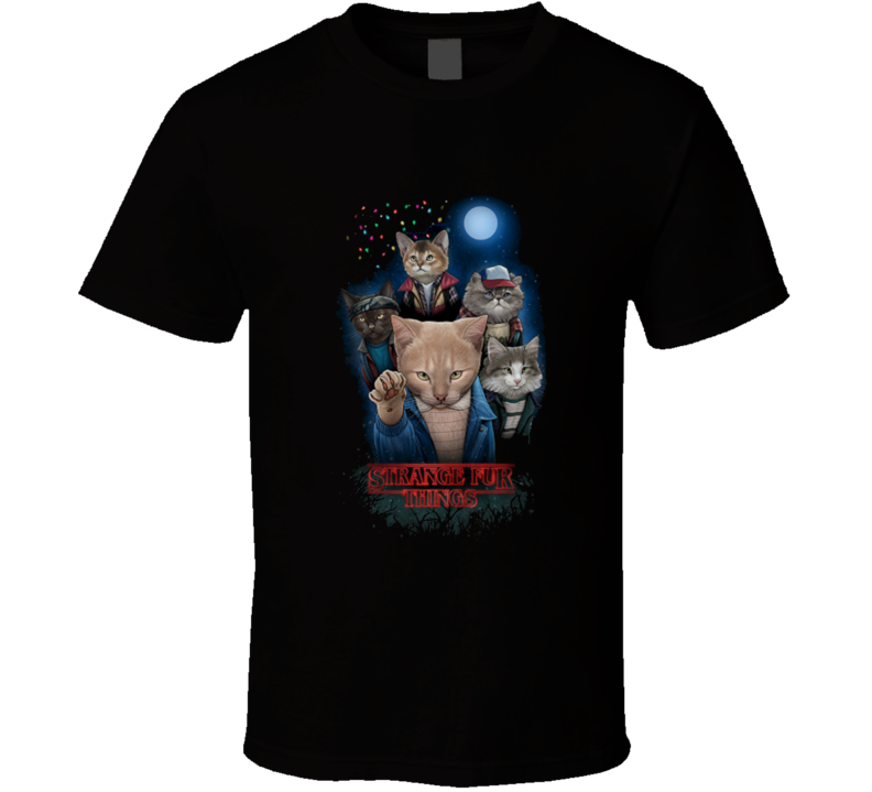 strange fur things stranger things T Shirt