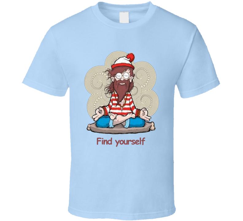 Waldo yoga enlightenment funny T Shirt