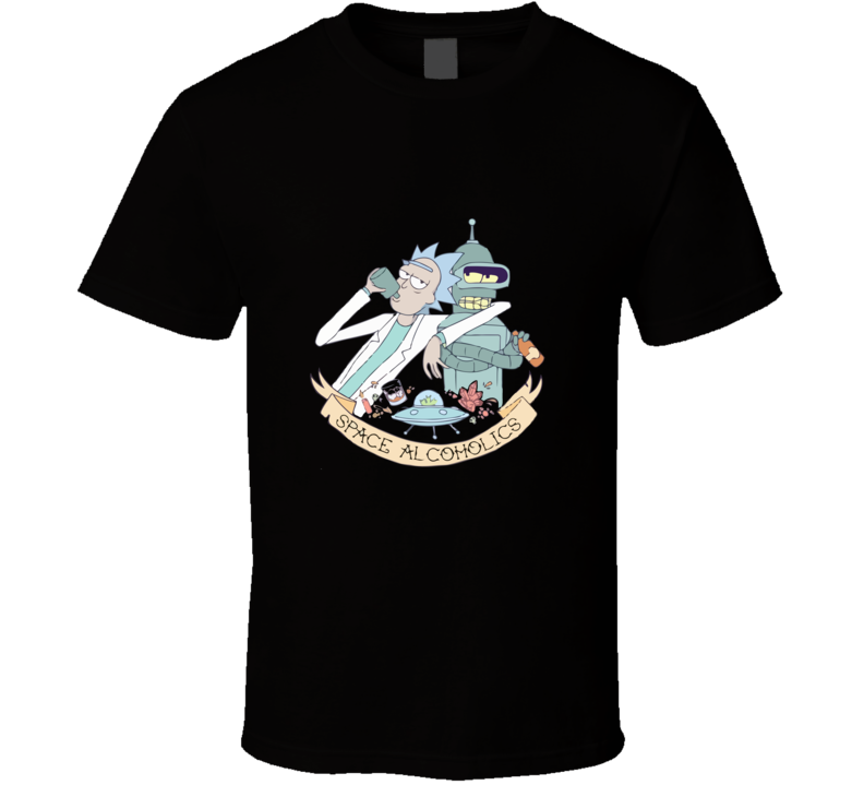 rick and bender futurama space alchoholics T Shirt