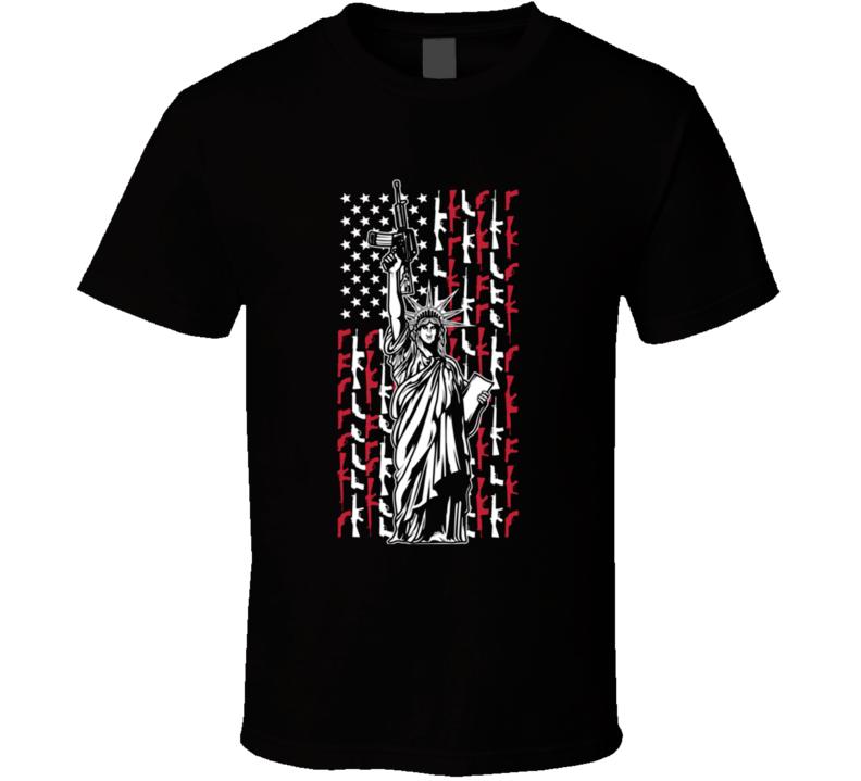 Statue of liberty assault rifle T Shirt