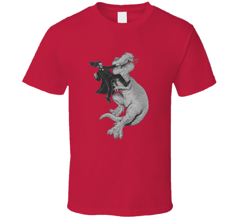 Abraham Lincoln punching a t-rex T Shirt