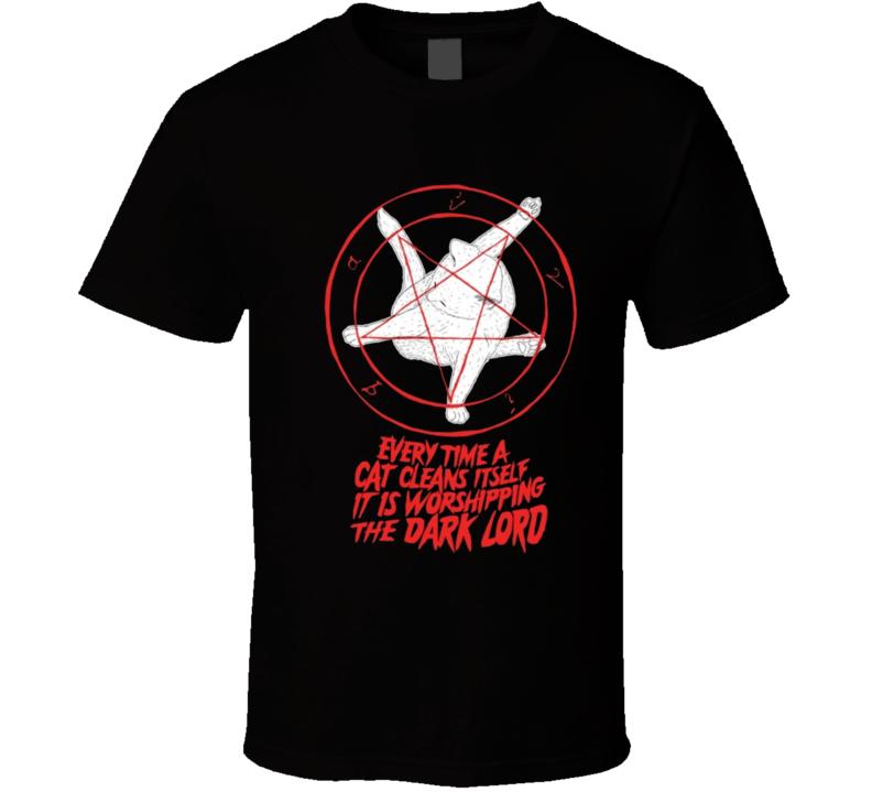Cats worship satan T Shirt