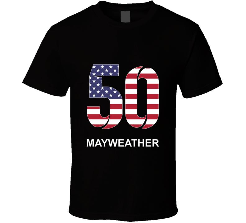 Mayweather 50 T Shirt