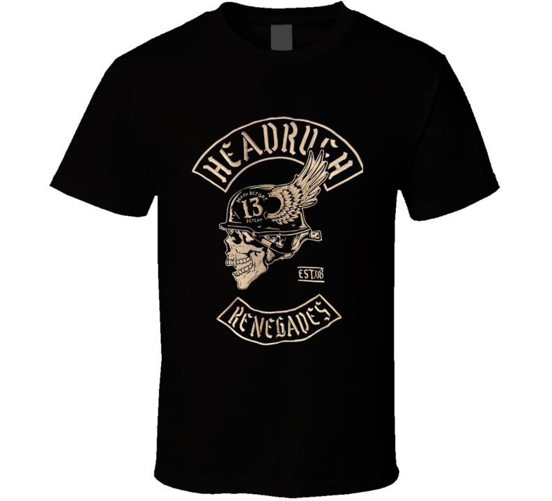 Headrush Renegades Hell Bomber T Shirt