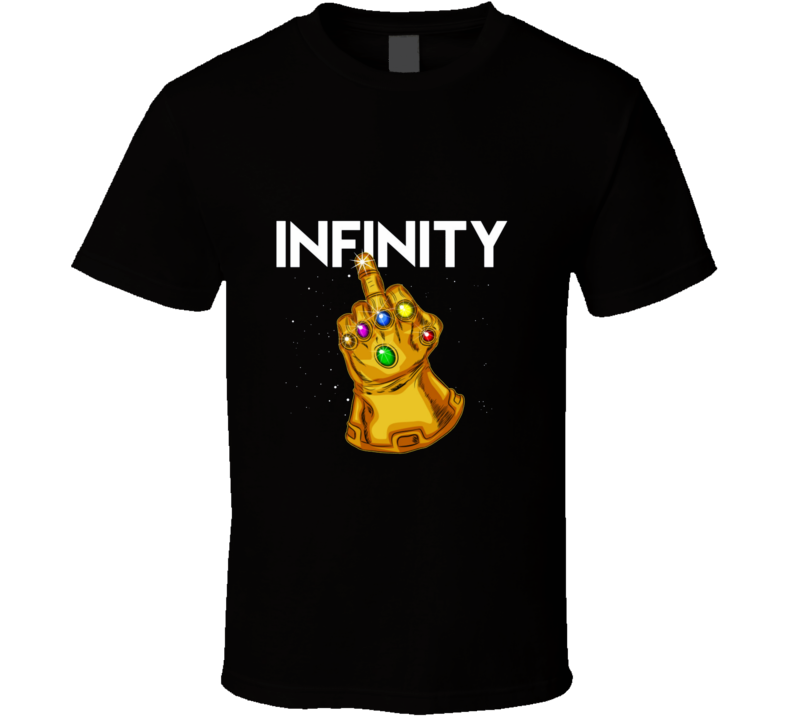 Infinity Gauntlet Middle Finger T Shirt